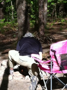 He is a fire building machine -  a great asset on camping trips!
