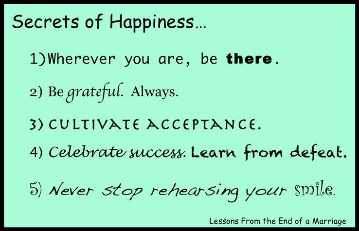 the secret of happiness quotes