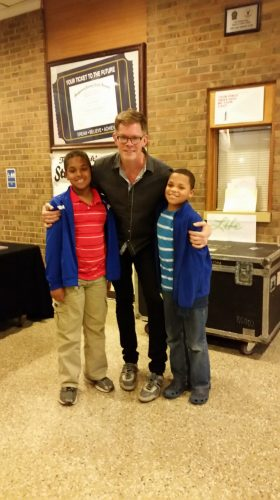 Jason Gray with Elijah and Levi