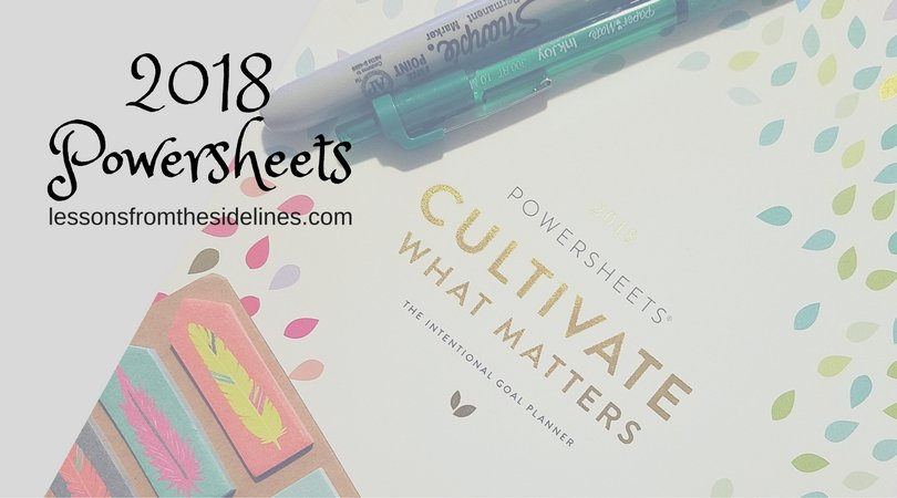 2018 Powersheets Lessons From The Sidelines