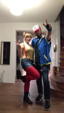 Ash and Misty were our Halloween costumes.