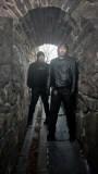 Chris and Joe pose at Skansen Krona.