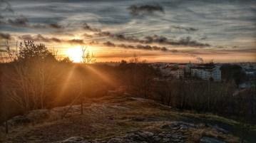 Sunset over Gothenburg.