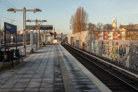 Spandau S-bahn station, near Berlin, Germany