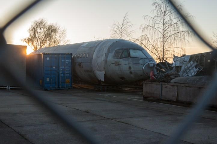 Plane bits at Tempelhof Airfield in Berlin, Germany