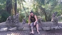 Jonathan hanging out in the monkey forest