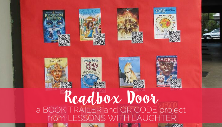Readbox Door with QR Codes - Lessons With Laughter