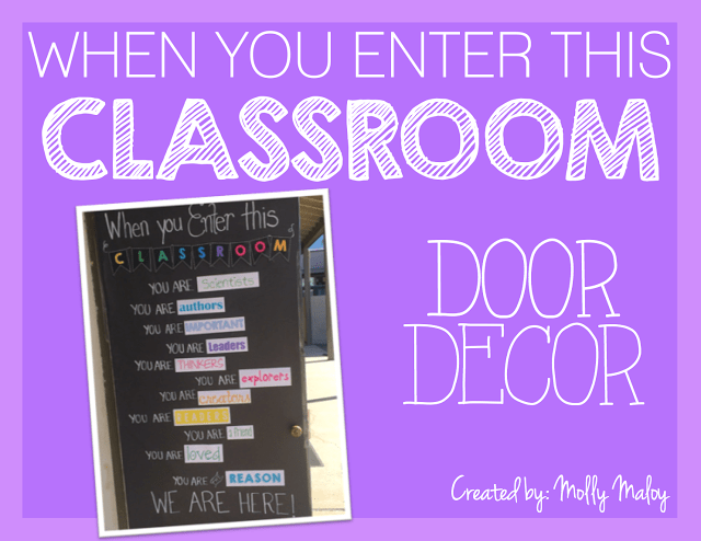 When you enter this classroom... Door Decor - Tutorial by Lessons with Laughter