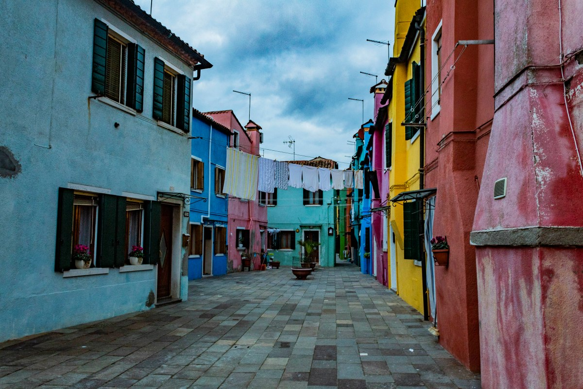 colorful houses in Venice