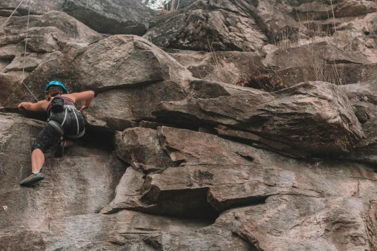 Rocky Face rock climbing