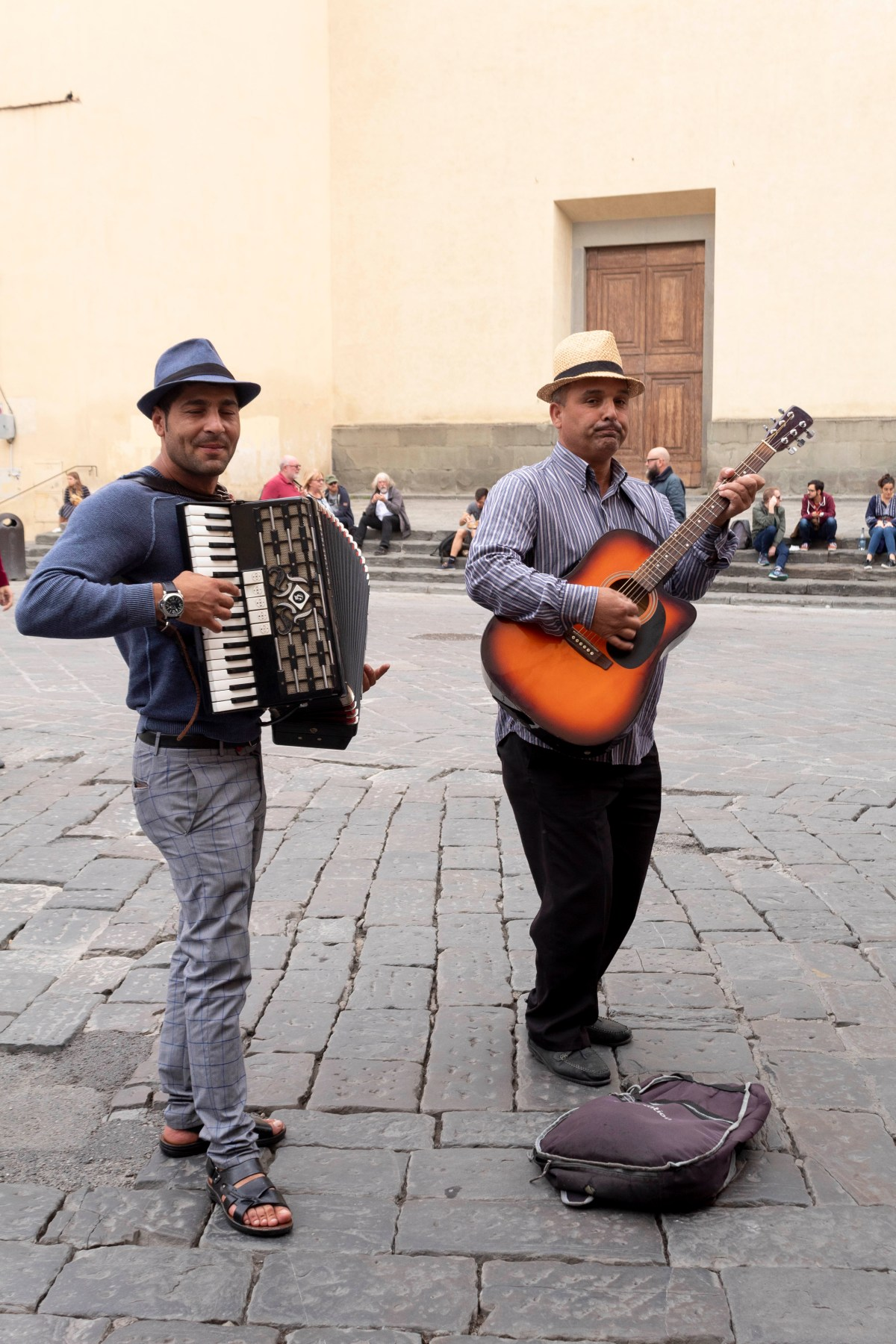 street performers in Florence Italy