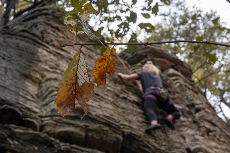 Rock Climbing Pilot Mountain