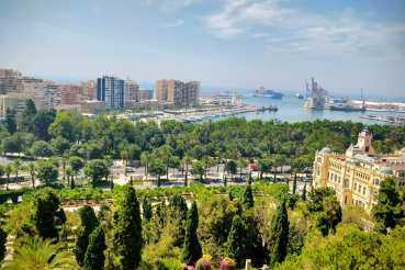 Vue panoramique de Malaga