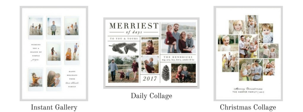 Minted Holiday Cards Collage