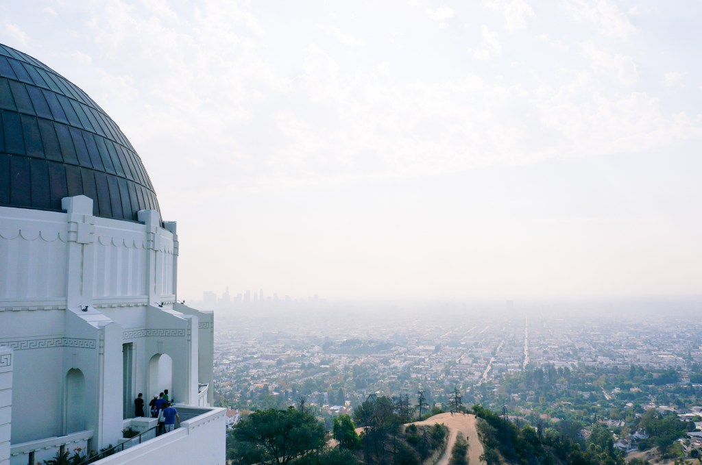 griffith observatory and views of los angeles