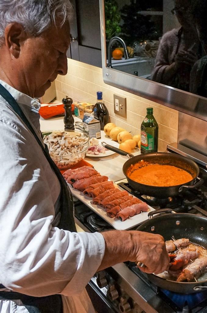 Chef Elio making Veal Rolatini
