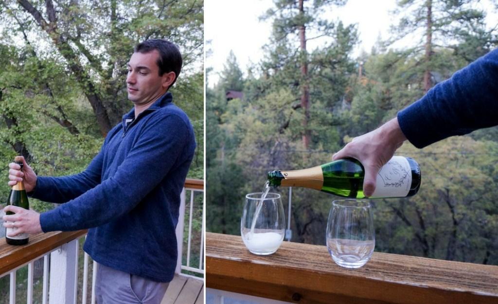 champagne at Big Bear