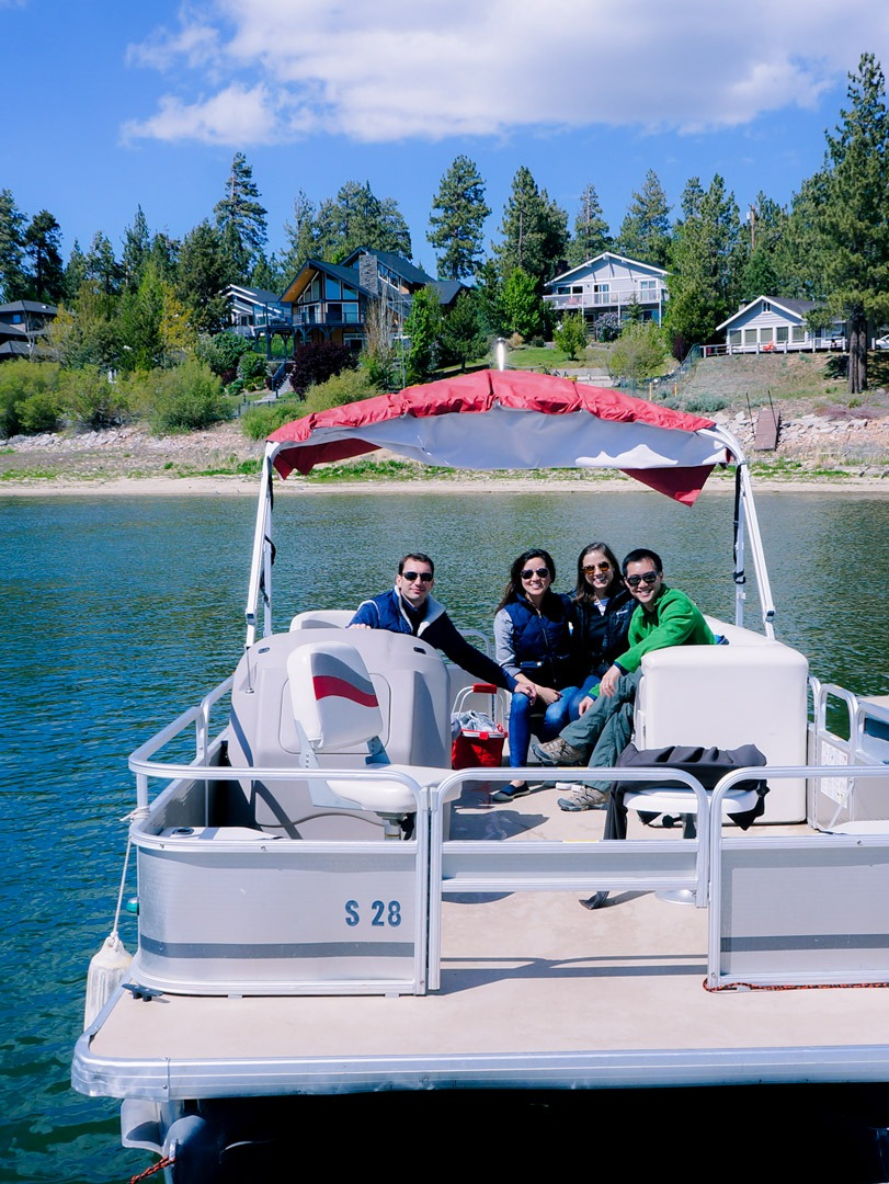 Pontoon Boat on Big Bear Lake