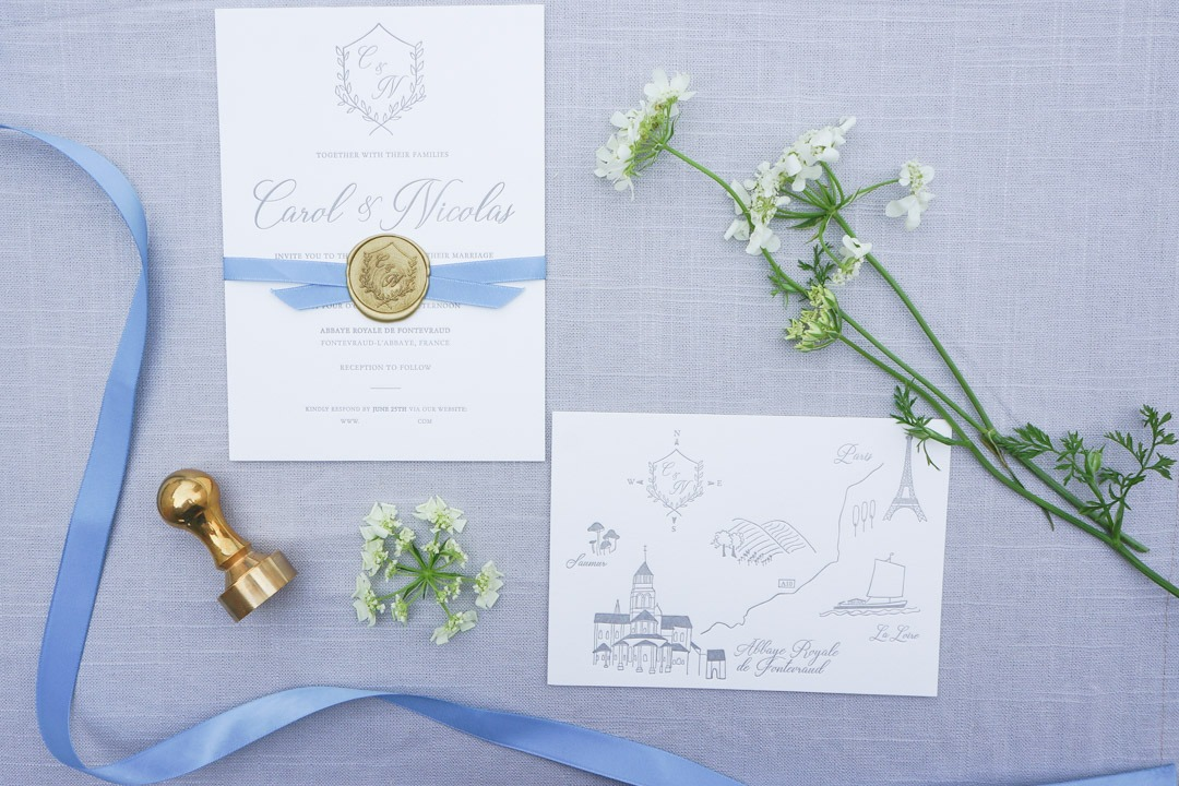 France Destination Wedding Invitations