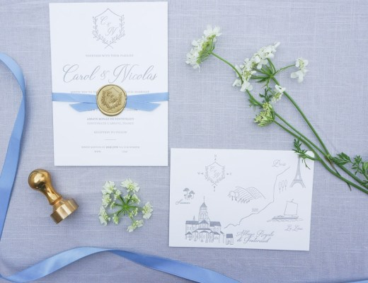 France Destination Wedding Invitations