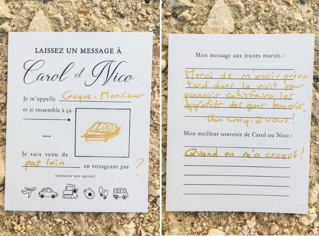 Croque Monsieur Welcome Card