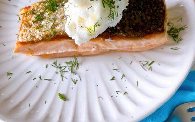 Sous Vide Salmon with Toum