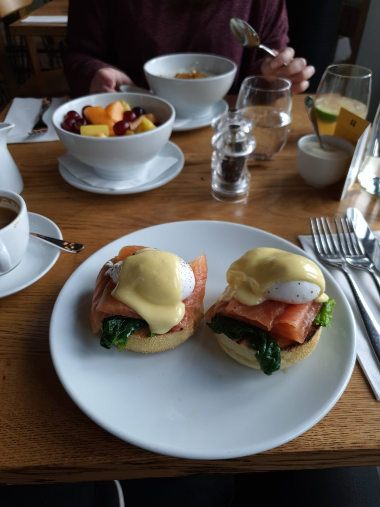 Eggs Royale breakfast - Christmas 2019