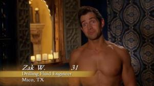 When he showed up shirtless on night one and made faces like this one.