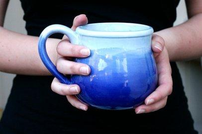 cobalt ice ombre mug