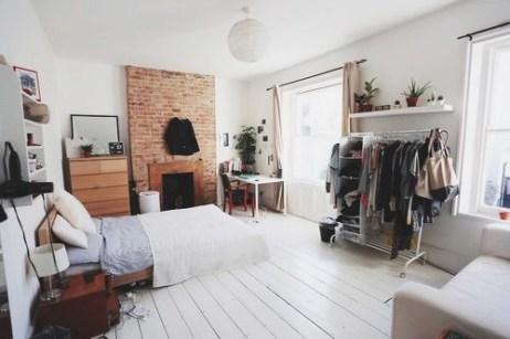 Large lived-in bedroom