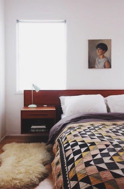 Magnificent quilt in simple bedroom