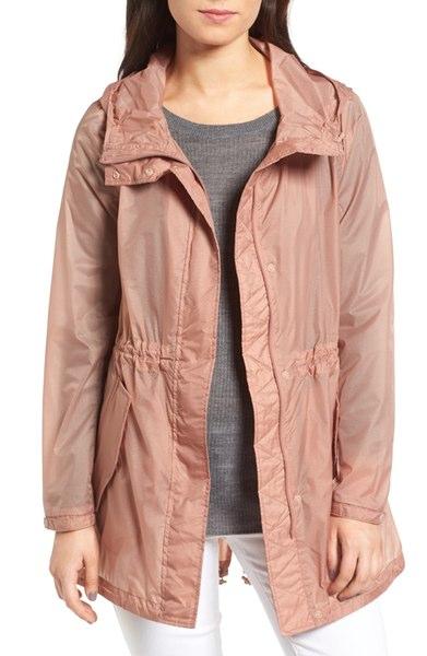 blush translucent rain jacket