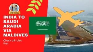 Read more about the article India to Saudi Arabia via Maldives