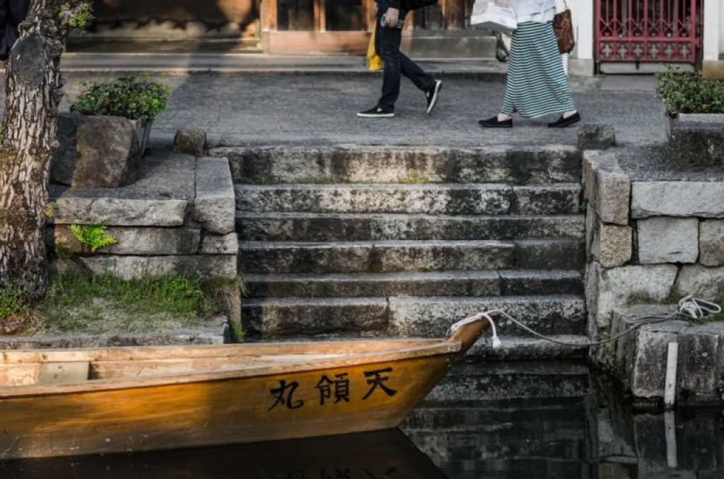 Boat in Bikan District Canal