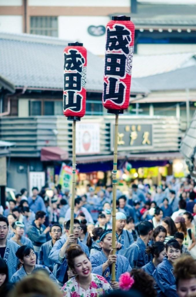 Lanterns at Narita Gion Matsuri