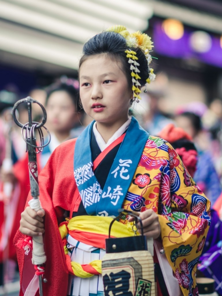 Photo of young girl in traditional clothing