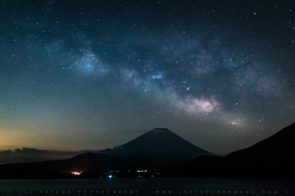 Photo of Milky Way and Mt Fuji