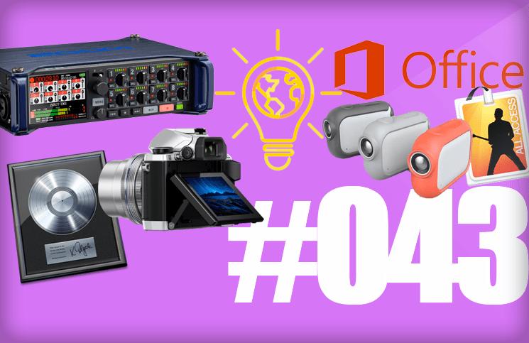 #43: Logic Pro X.2, MainStage, Apple TV, Project Sunroof, Graava, Office 2016, Zoom F8, Ashley Madison,…