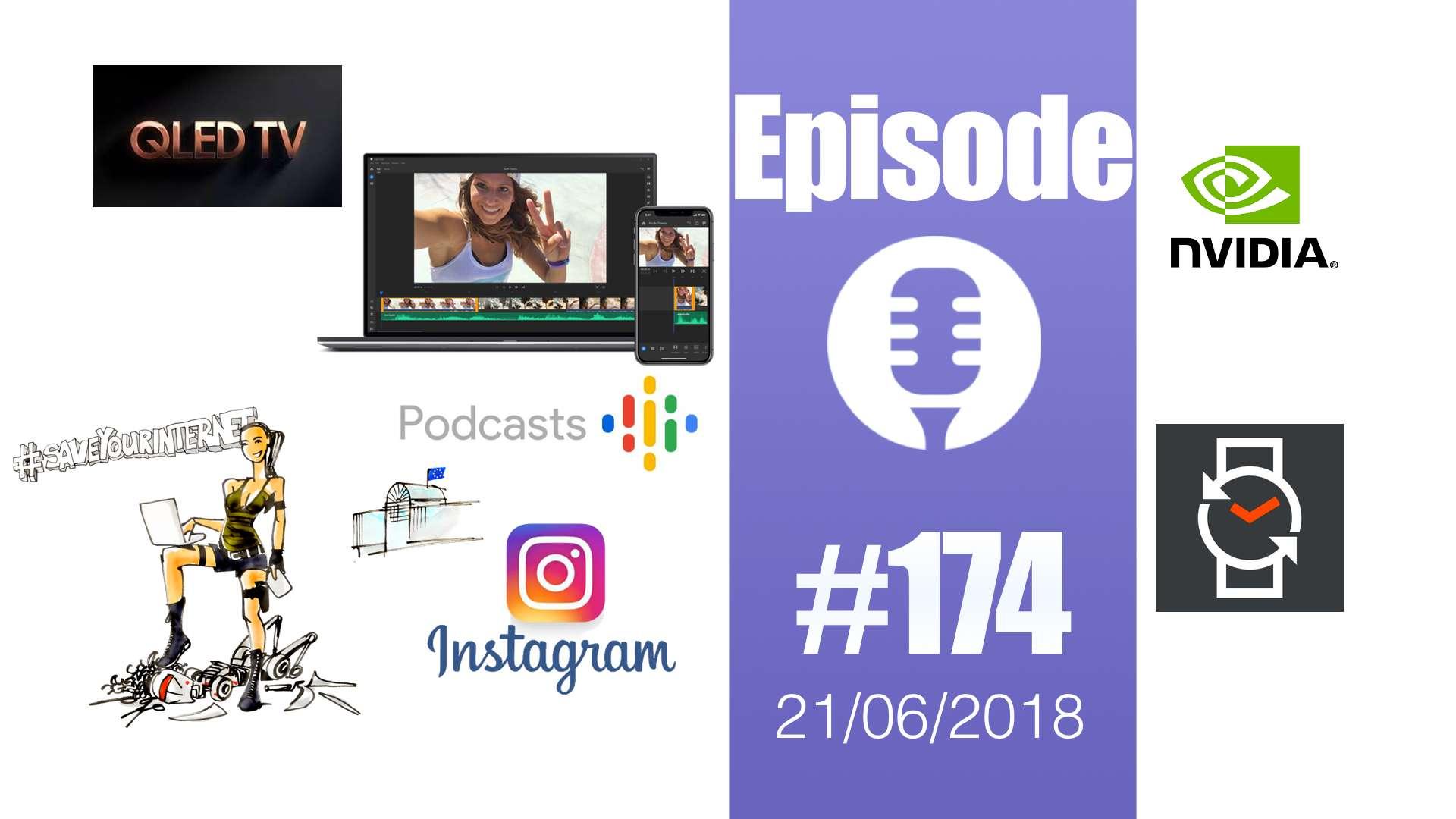 #174: Adobe Project Rush, Google Podcasts, Facebook vous ouvre les yeux, article 13, un drone qui pète le feu,…