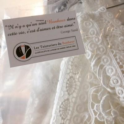 Nettoyage de Robe de Mariée