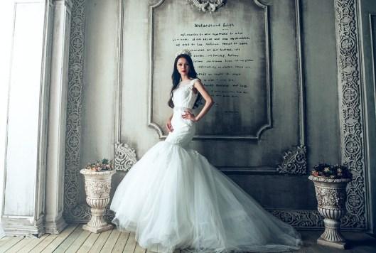 pressing robe de mariée sirène morphologie