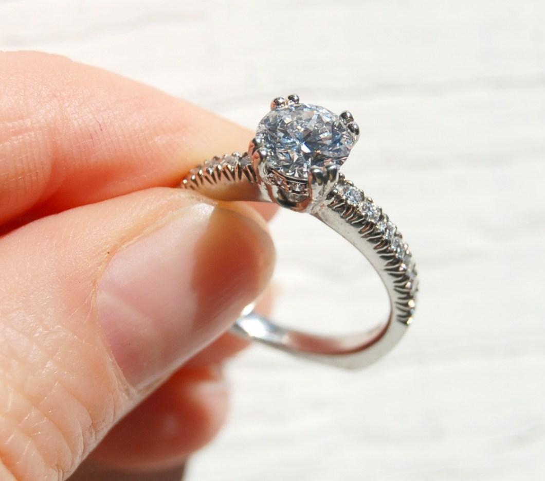 bague pressing robe mariage diamant