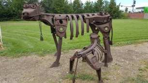 Swetsville Zoo Cow