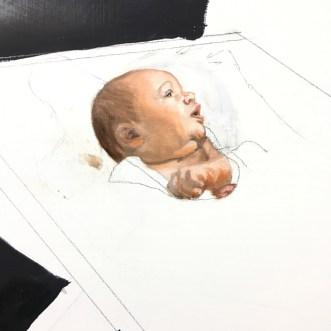 Baby first pass - closeup