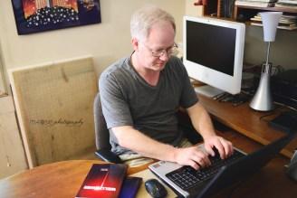Lester Yocum at his Desk