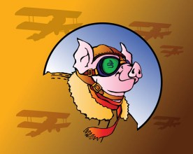 Dashing Aviator Pig
