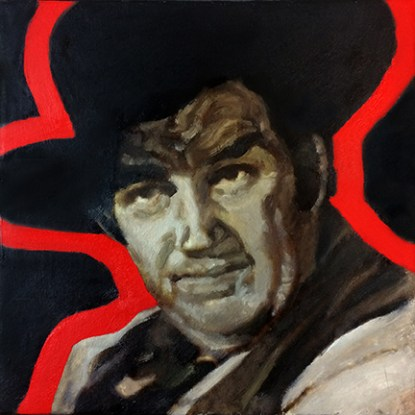 Andy Devine Painting Red Outline