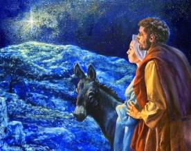 Looking Toward Bethlehem Oil Painting Progress Shot