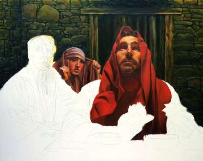 Emmaus Oil Painting Progress Shot