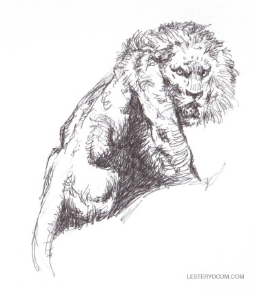 Sketch of a Frank Frazetta Lion